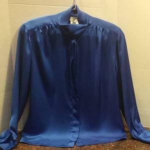 Jones New York  Draped Collar Blouse ...NWOT